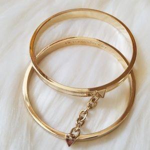 💛 Victoria's Secret Gold Double Bangle Bracelet